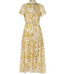 super eight floral-print silk midi dress