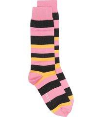 marni horizontal-stripe ankle socks - black