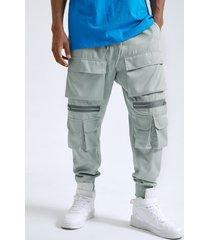 bolsillos con cremallera estilo hip hop street para hombre carga pantalones