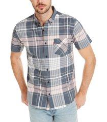 levi's men's button-down plaid shirt
