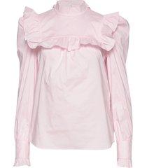 vivica blouse lange mouwen roze custommade
