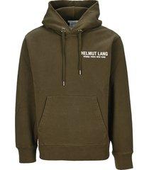 helmut lang sleeve strap hoodie