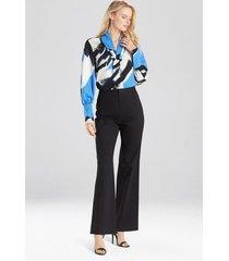 natori cotton twill trouser pants, women's, size 2