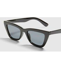 lane bryant women's rectangle cateye sunglasses - black onesz black