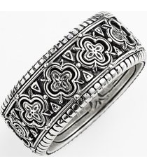 men's konstantino 'classics' clover etched ring