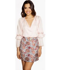 falda de flores rosada virginia- ananá