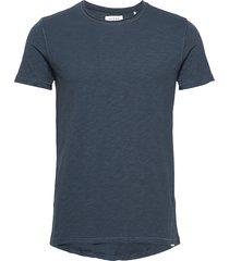 konrad slub s/s tee t-shirts short-sleeved blå gabba