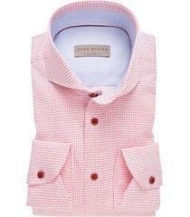 john miller overhemd tailored fit roze print