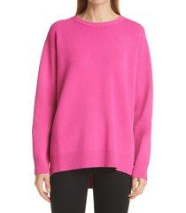 women's valentino logo sweater, size small - pink