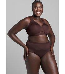 lane bryant women's comfort bliss lightly lined no-wire bra 48ddd chocolate plum
