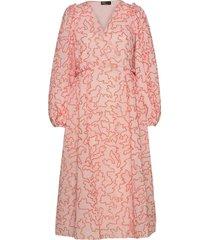 bernard, 940 lurex organza jurk knielengte roze stine goya