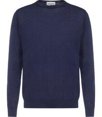 lanvin back-logo wool sweater
