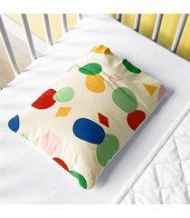 fronha beb㪠colorido geomã©trico moderno grã£o de gente multicolorido. - multicolorido - dafiti