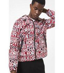 mk giacca con cappuccio e logo stampato - nero (nero) - michael kors