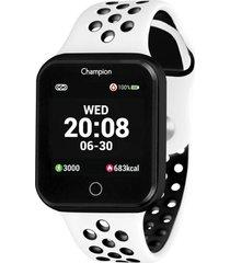 relogio champion smart watch - ch50006k - branco - dafiti