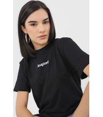camiseta desigual sonar preta - preto - feminino - algodã£o - dafiti