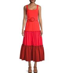 sachin & babi women's alli maxi dress - red - size 6