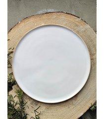 ceramiczny talerz śniadaniowy pure white