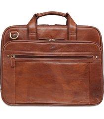 mancini arizona collection double compartment laptop/ tablet briefcase
