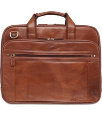 mancini arizona collection double compartment laptop/ tablet briefcase