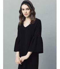 sukienka z szerokimi rękawami czarna
