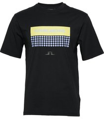 dale-distinct cotton t-shirts short-sleeved zwart j. lindeberg