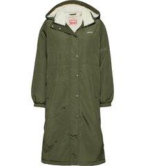 estelle jacket army green parka lange jas jas groen levi´s women