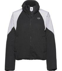 short puffer zomerjas dunne jas zwart adidas originals