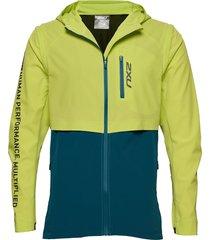 ghst woven 2 in 1 jacket-m outerwear sport jackets geel 2xu