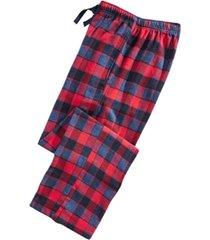 perry ellis men's large-plaid flannel pajama pants