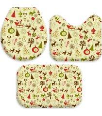 jogo tapete love decor para banheiro classico natal único