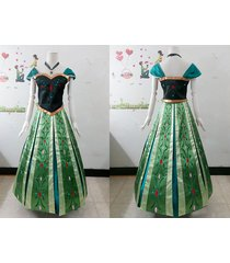 anna costume anna coronation dress frozen anna crowned cosplay outfit embroidery
