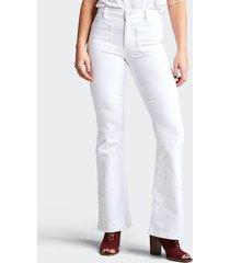 bootcut winnie jeans - vit