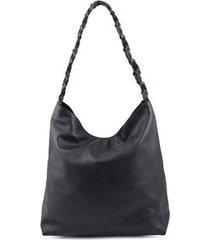 bolsa saco alça trama preto preto/un