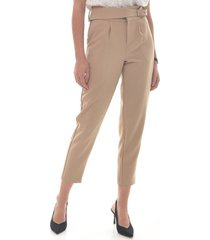 pantalon para mujer en poliester cafe color-cafe-talla-12
