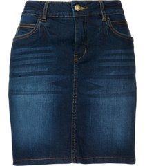 gonna di jeans elasticizzata (blu) - john baner jeanswear