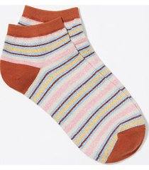 loft shimmer stripe ankle socks