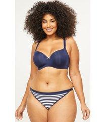 lane bryant women's no-show g-string panty 26/28 navy stripes