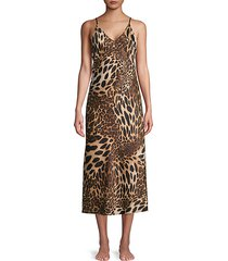 leopard-print nightgown