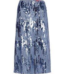 rolea-1 knälång kjol blå hugo