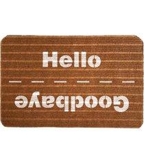 capacho carpet goobaye/hello marrom único love decor