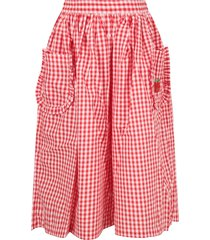 sonia rykiel red and white girl skirt with iconic apple