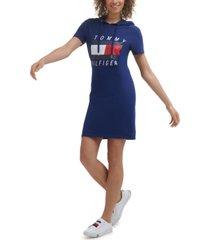 tommy hilfiger sport women's hooded bodycon dress
