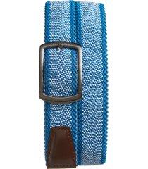 men's ted baker london kiggle reversible elastic belt, size small/medium - blue