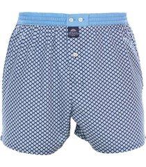 mcalson boxer met binnenbroek printje blauw