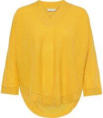 faithe stickad tröja gul masai