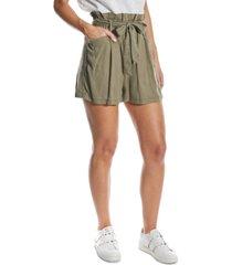 oat paperbag-waist shorts