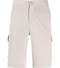 brunello cucinelli side pockets bermuda shorts - neutrals