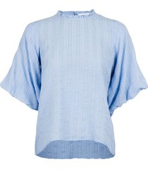 riko dobby check blouse