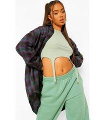 oversized geruite blouse, green